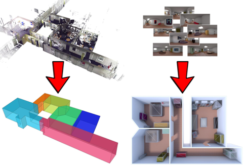Automatic reconstruction of structured three-dimensional models