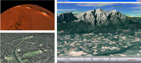 Introduction of novel methods for the scalable visualization of geospatial data